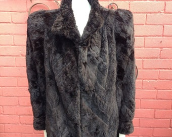 Stunning 40s rabbit fur coat