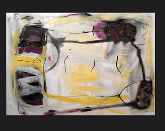 Large original abstract acrylic painting on paper