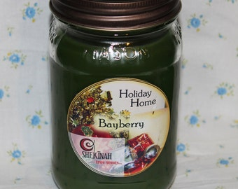 Bayberry Shekinah Candles 15 oz  Mason Jar Candle