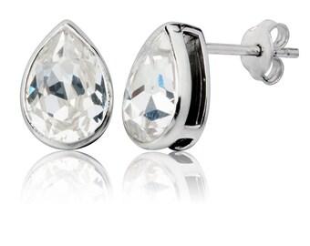 Classic Tear Drop 10x7mm Stud Earrings