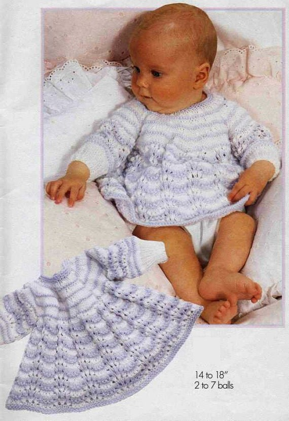 Knit Angel Top Vintage Pattern baby dress knitting pullover