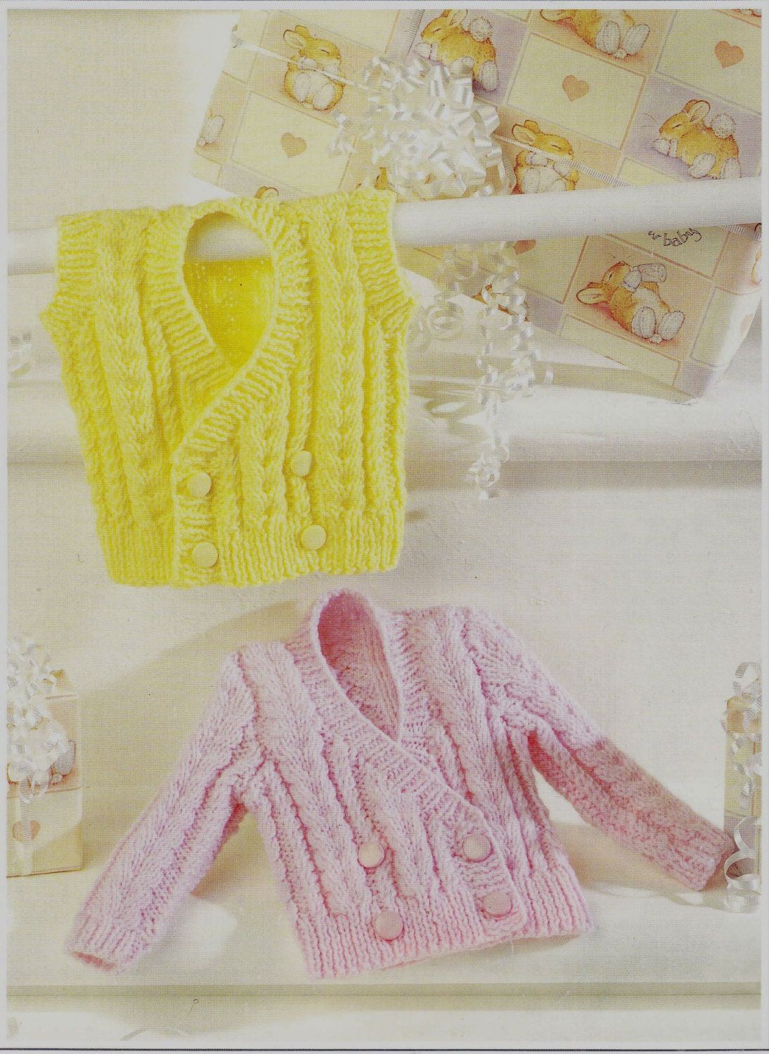 Vest Jumper Knitting Pattern : Knit Sweater Vest Vintage Pattern toddler knitting pullover