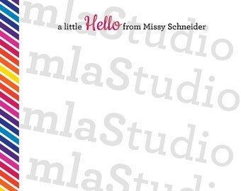 A Little Hello From...Personalized Stationery Set of 25