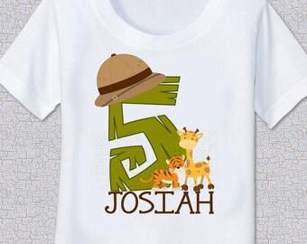 Safari Jungle birthday Tshirt Shirt