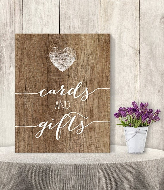Wedding Gift Table Sign Wording : And Gifts / Wedding Gift Table Sign DIY, Presents/ Rustic Wood Sign ...
