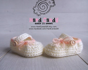 Crochet Baby Mary Jane / Booties / Shoes