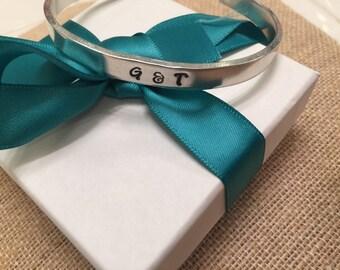 Handstamped aluminum cuff