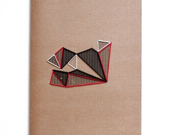 Lost in childhood, handmade notebook for write and sketch