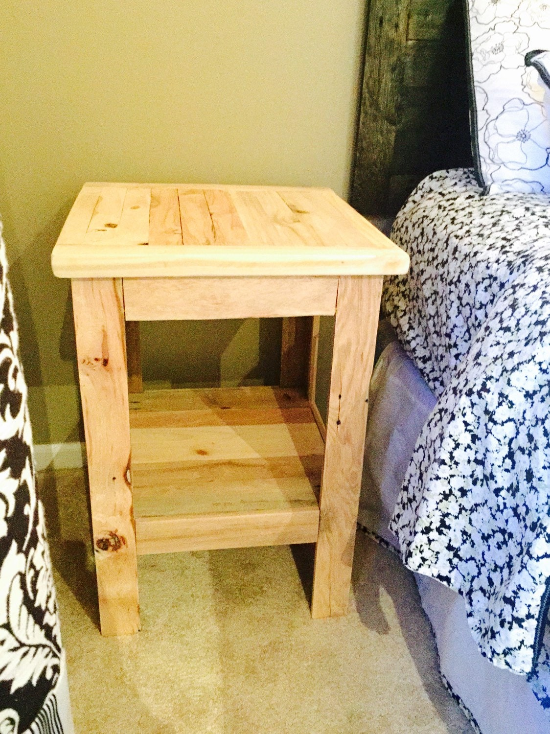Nightstand end table rustic reclaimed repuposed by for Transmutation table 85 items