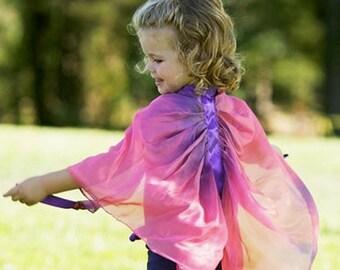 Silk Wings, Waldorf Toy, Dress Up, Rainbow Silk Costume