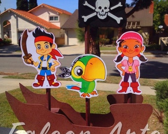 Jake and the Neverland Pirates centerpiece Ship boat 1st 2nd 3rd 4th 5th Birthday