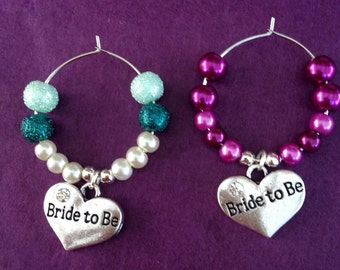 Wine Glass Charm Bride To Be