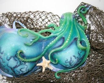 Silicone Octopus mermaid bra