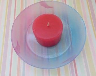 Blue And Pink Candle Dish Pillar Candle Dish Home Decor Vintage Dish Bowl Glass Ware Jewelry Dish Trinket Dish Trays Tableware Decor Dish