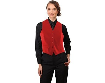 Women's Red Full back dress vest