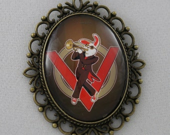 """The Velveteen Band: """"Trumpet V Gear"""" -  Cameo Necklace"""