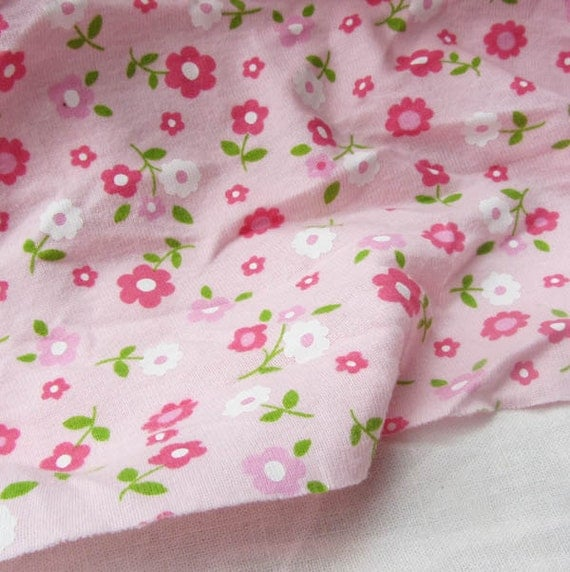 Kids baby print rib knit fabric 100 floral by yard 1 2 yard for Kids knit fabric