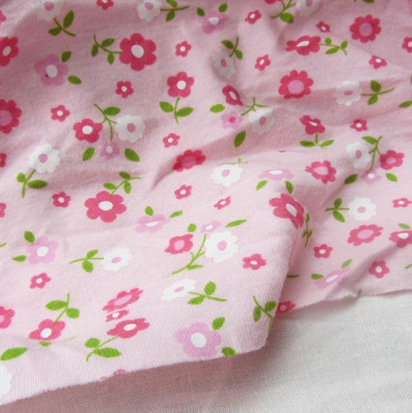 Kids baby print rib knit fabric 100 floral by yard 1 2 yard for Knit fabric childrens prints