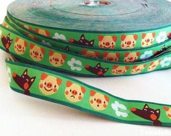 1m woven ribbon: 3 little pigs