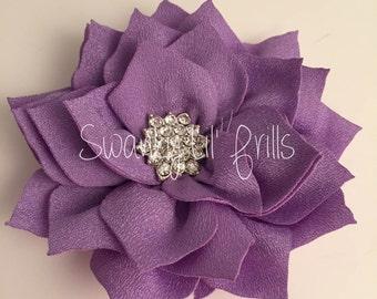 "Purple Flower, Poinsettia Flower, 3"" Lotus Flower, Headband Flower, Headband Supplies, Scrapbooking Supplies"