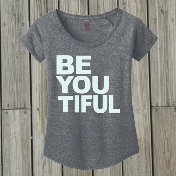 BeYouTiful Shirt For Women . Yoga Tee. Active Wear. Plus Size