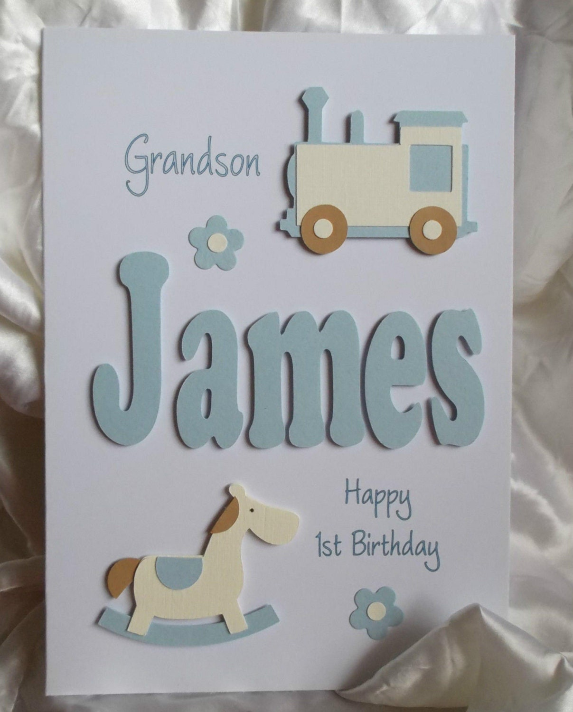 Personalised Handmade 1st 2nd 3rd Etc.Birthday Card Son