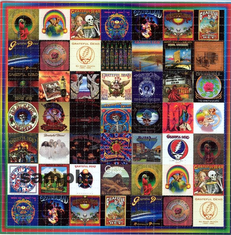 Grateful Dead Albums Blotter Art Perforated Acid Art Paper
