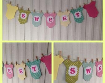 Baby Shower Onesie Paper Banner