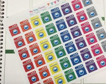 C12 Laundry day washing machine planner stickers for Erin Condren Life Planner