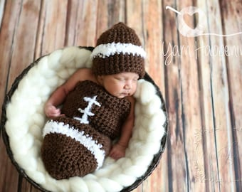 Crochet Football Cocoon