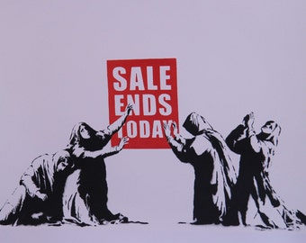 Banksy Art Sale Ends Today Poster Print in Different Sizes