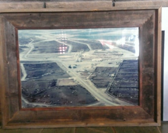 Rustic Country Reclaimed Lumber Barn Wood Picture Frame