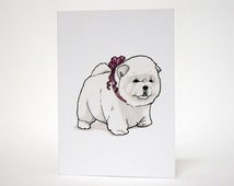 Chow Chow - Blank A6 Greetings Card