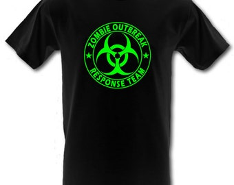 ZOMBIE OUTBREAK Response Team Funny Horror  Heavy Cotton t-shirt All Sizes Small - XXL (kids and adults)