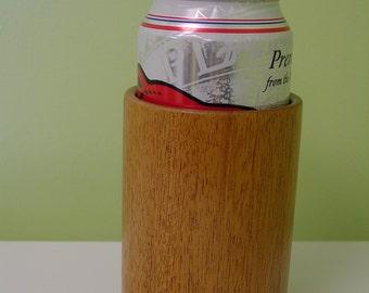 Mahogany wooden can holder