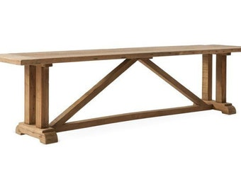 Bench, Reclaimed Salvaged Solid Wood Bench, Vintage and Rustic