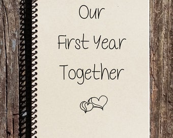 Quotes About Love 1 Year Anniversary : year journal love and romance 1st anniversary newlyweds anniversary ...