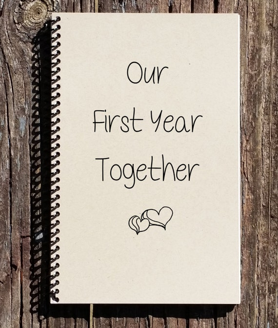 Our first year journal love and romance st anniversary