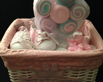 Baby Girl Diaper Basket