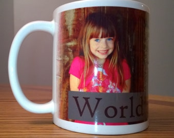 Personalized Mug with Designs and/or YOUR Photo(s) and Text. Comes with Gift Box!
