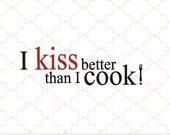 SVG kiss the cook digital kitchen design PNG EPS