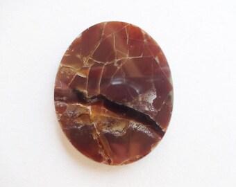 Ammolite fossil shell fire ammonite cabochon 41x35 mm - Ancient fossil shell gemstone cabochon supplies
