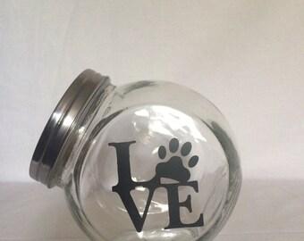 Love   Doggie Treat Jar