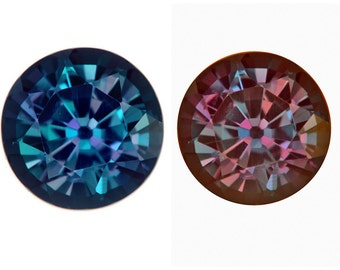 Lab Created Pulled Synthetic True Alexandrite Color Change Round (1.5mm to 20mm)