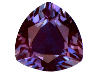 Lab-Created Pulled Synthetic True Alexandrite Color Change Trillion 3x3-25x25mm