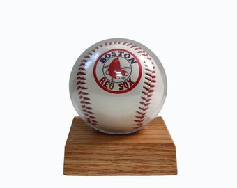 Oak Baseball Holder