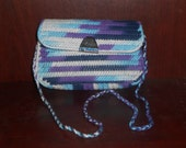 Handmade crocheted plastic canvas purse