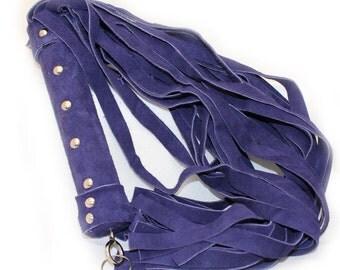 Handmade Purple Suede Leather Flogger