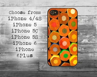 Color pencils phone cover - iPhone 4/4S, iPhone 5/5S/5C, iPhone 6/6+, iPhone 6s/6s Plus case -pencil cell iPhone case