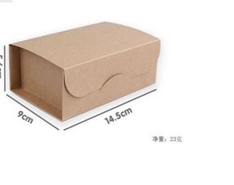 French crispy cakes box window carton general packaging box 50pcs/lot 14.5*9*5.6(cm)